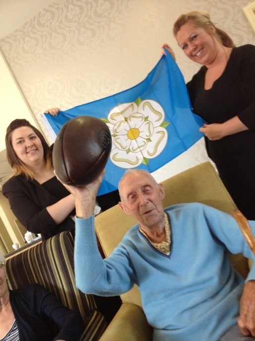 CARE HOME REMINISENCE EVENT MARKS YORKSHIRE DAY