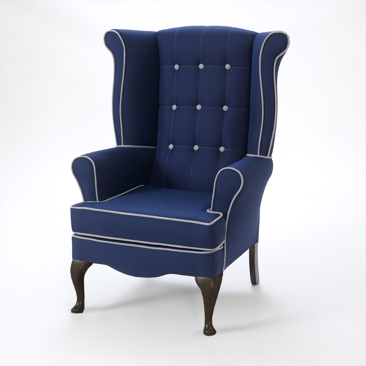 Chichester button wing back chair & Chichester button wing back chair - Shackletons