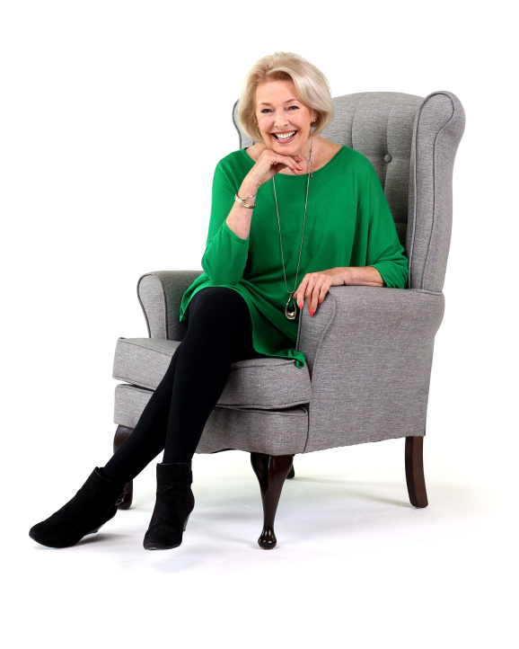Diana Moran sitting in chair