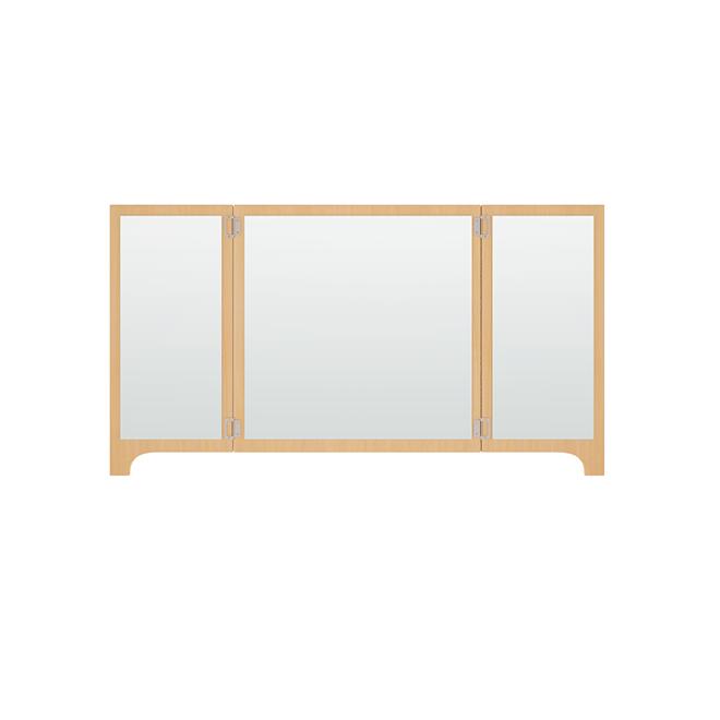 Folding wall mirror