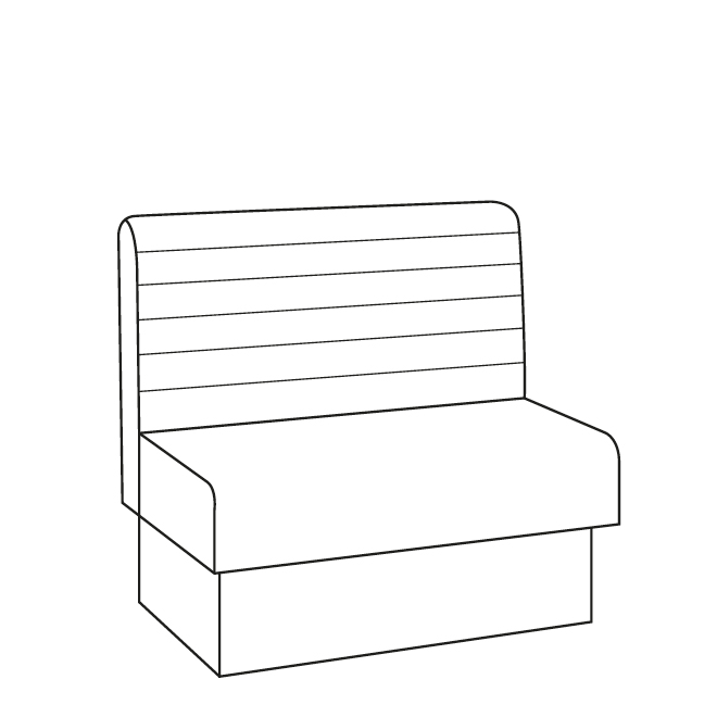 Horizontal Fluted Banquette Seating