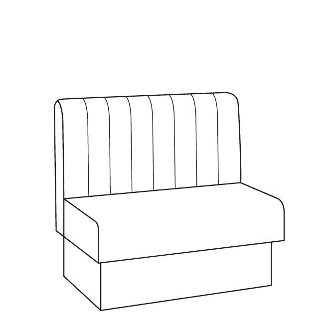 Vertical Fluted Banquette Seating